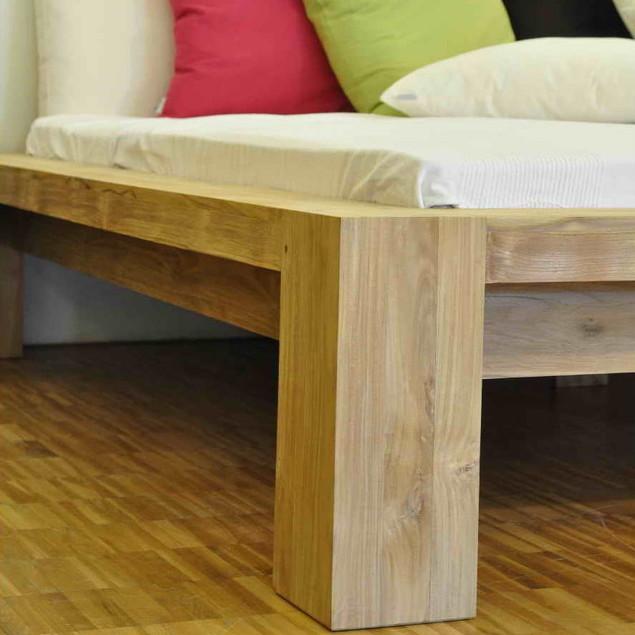 bett puro aus teakholz massiv moebel kolonie. Black Bedroom Furniture Sets. Home Design Ideas