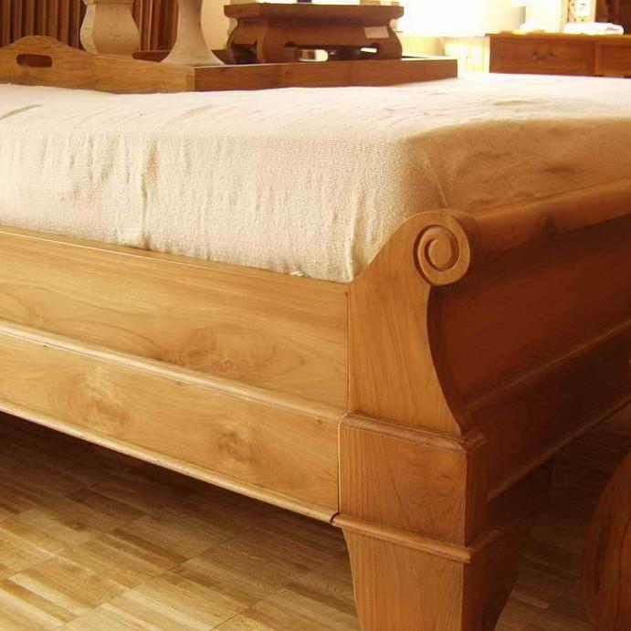 bett swan aus teakholz massiv moebel kolonie. Black Bedroom Furniture Sets. Home Design Ideas