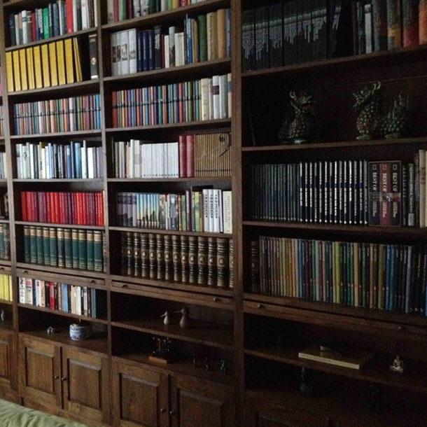 bibliothek bevell aus teakholz massiv moebel kolonie. Black Bedroom Furniture Sets. Home Design Ideas