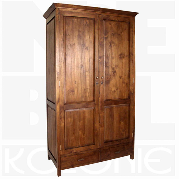 kleiderschrank ceylon aus teakholz massiv moebel kolonie. Black Bedroom Furniture Sets. Home Design Ideas