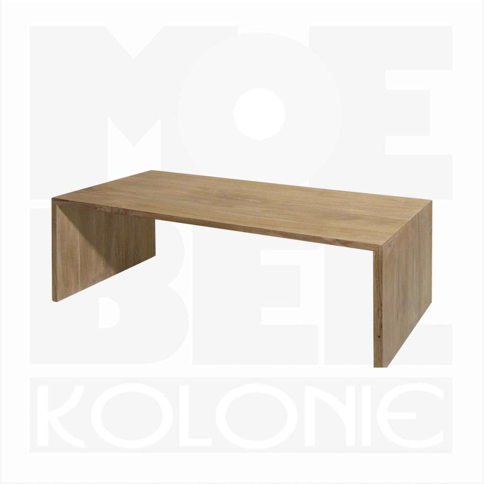 massiver sofa oder beistelltisch u aus teakholz moebel. Black Bedroom Furniture Sets. Home Design Ideas