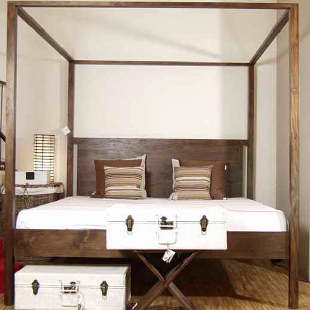 massives teak himmelbett munich moebel kolonie. Black Bedroom Furniture Sets. Home Design Ideas