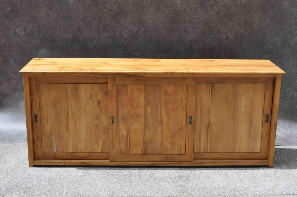 sideboard mit schiebet ren aus teak moebel kolonie. Black Bedroom Furniture Sets. Home Design Ideas