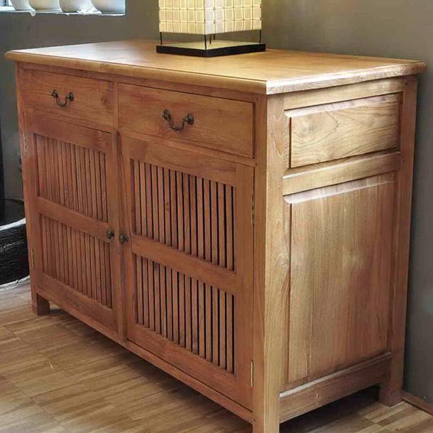 sideboard wandel aus teakholz massiv moebel kolonie. Black Bedroom Furniture Sets. Home Design Ideas