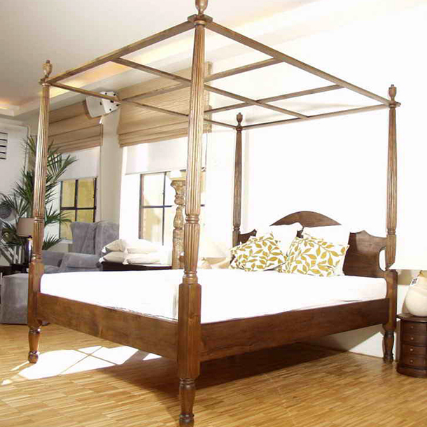 teak massiv himmelbett mallorca moebel kolonie. Black Bedroom Furniture Sets. Home Design Ideas