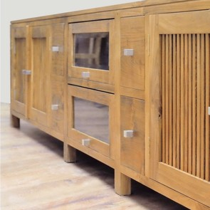 Massives Teak TV-Sideboard Cancun
