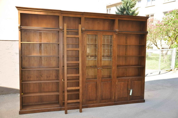 Bibliothek Cambridge aus Teak Massivholz