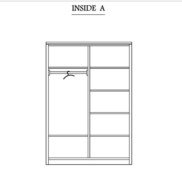 kleiderschrank consell mit 2 t ren moebel kolonie. Black Bedroom Furniture Sets. Home Design Ideas