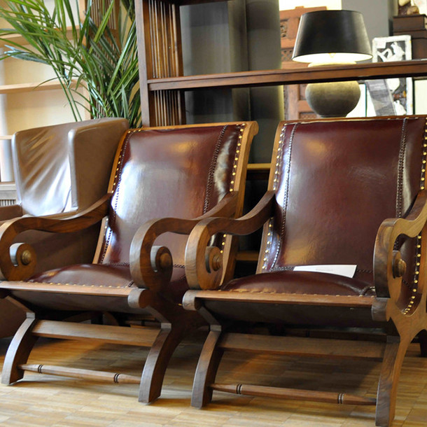"Lounge Chair ""COLONIAL LEATHER""