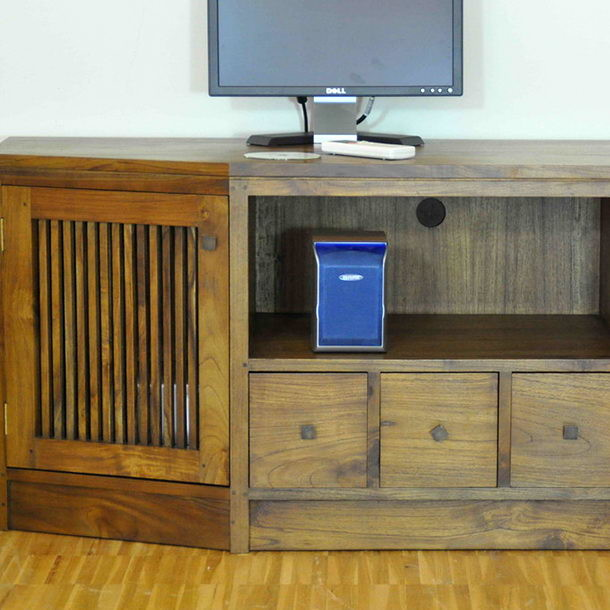 Massives Teakholz TV-Sideboard Merida