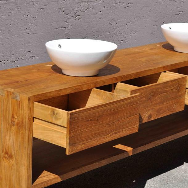 waschtisch console rustic aus teakholz massiv moebel kolonie. Black Bedroom Furniture Sets. Home Design Ideas