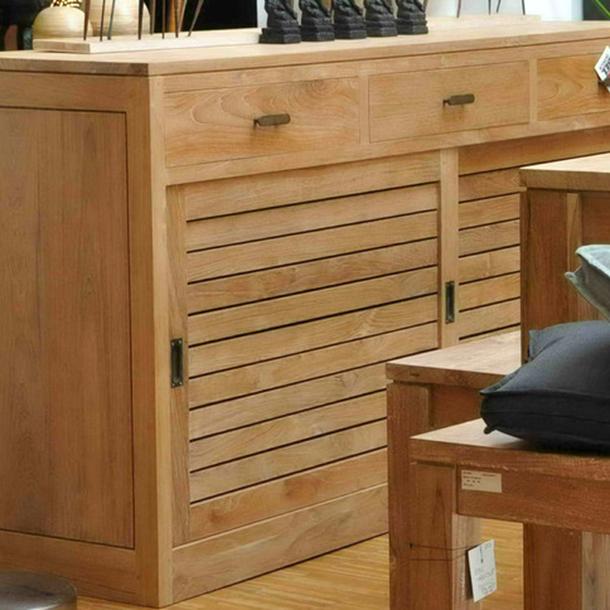 waschtisch capri aus teakholz massiv mit schiebet ren moebel kolonie. Black Bedroom Furniture Sets. Home Design Ideas