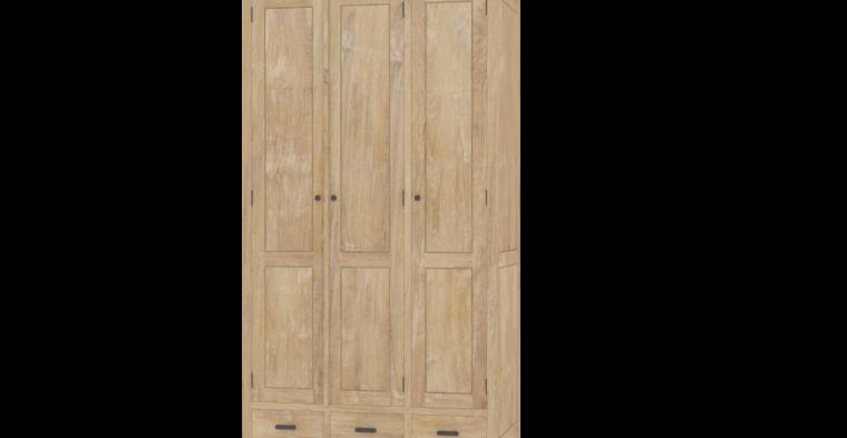 kleiderschrank montuiiri aus massivholz teak moebel kolonie. Black Bedroom Furniture Sets. Home Design Ideas