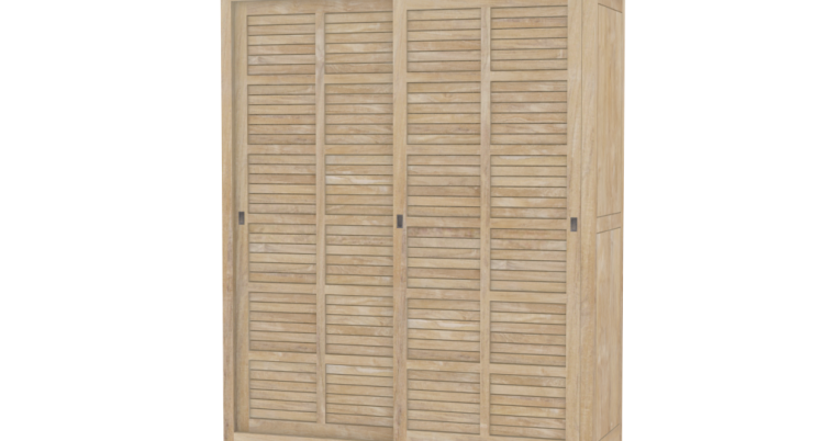 kleiderschrank manacor aus massivholz teak moebel kolonie. Black Bedroom Furniture Sets. Home Design Ideas